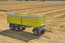 Самосвално ремарке Флигел с тристранно разтоварване триосно 24 тона - Трактор