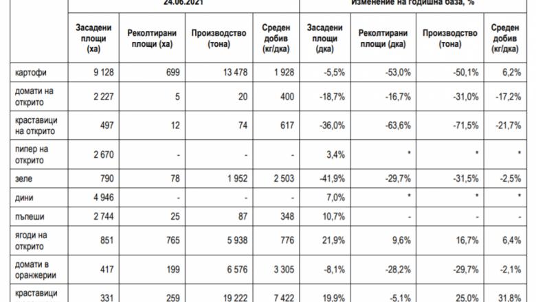Сблъсък на данни: Повече или по-малко са зеленчуците тази година