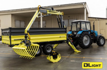 DL AgroMaster - Тракторно полуремарке с хидравличен манипулатор - Трактор